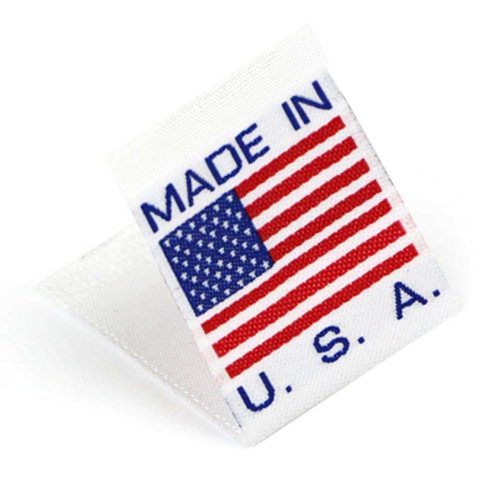 "Vävd mittvikt mini flagga ""Made in the USA"""