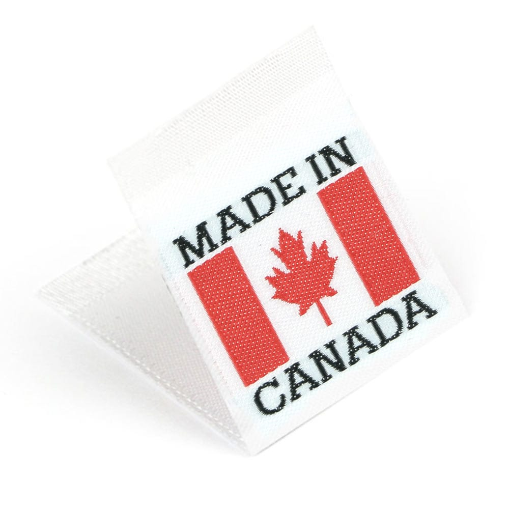 "Vävd mittvikt mini flagga ""Made in the Canada"""