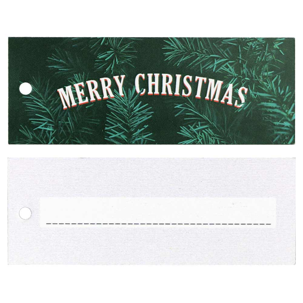 Christmas Hang Tags - Merry Christmas with Greenery