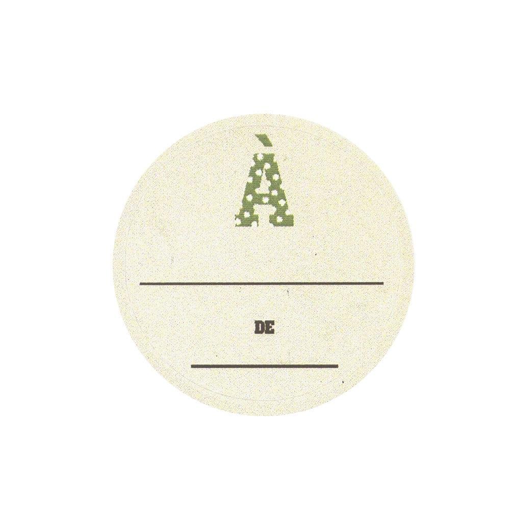 Autocollants Noël 'à... de...' - Beige
