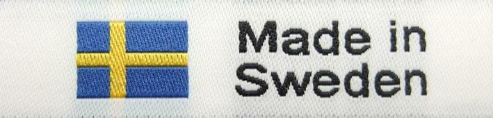 """Vävd etikett """"Made in Sweden"""""""