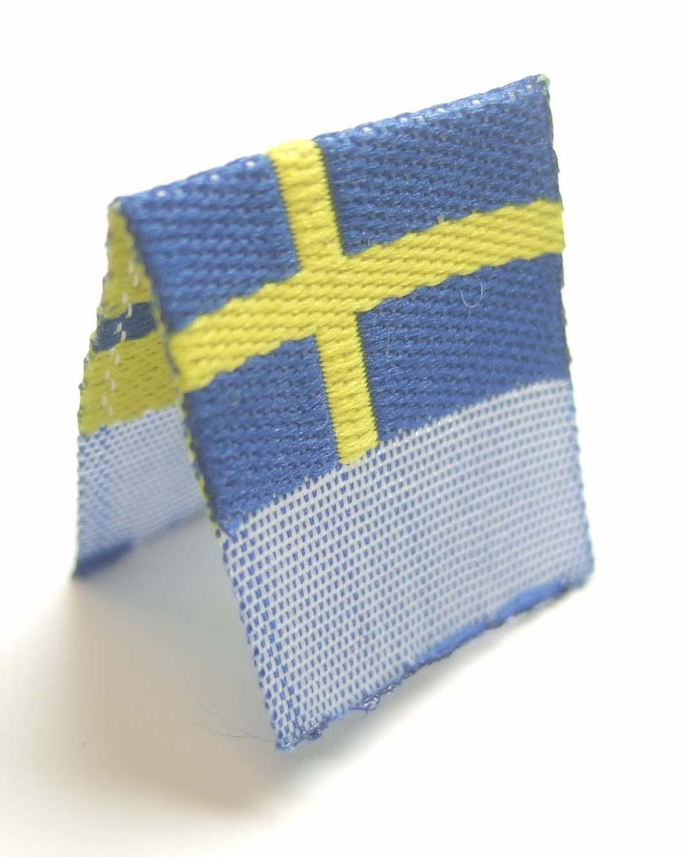 """Vävd mittvikt mini flagga """"Sverige"""""""