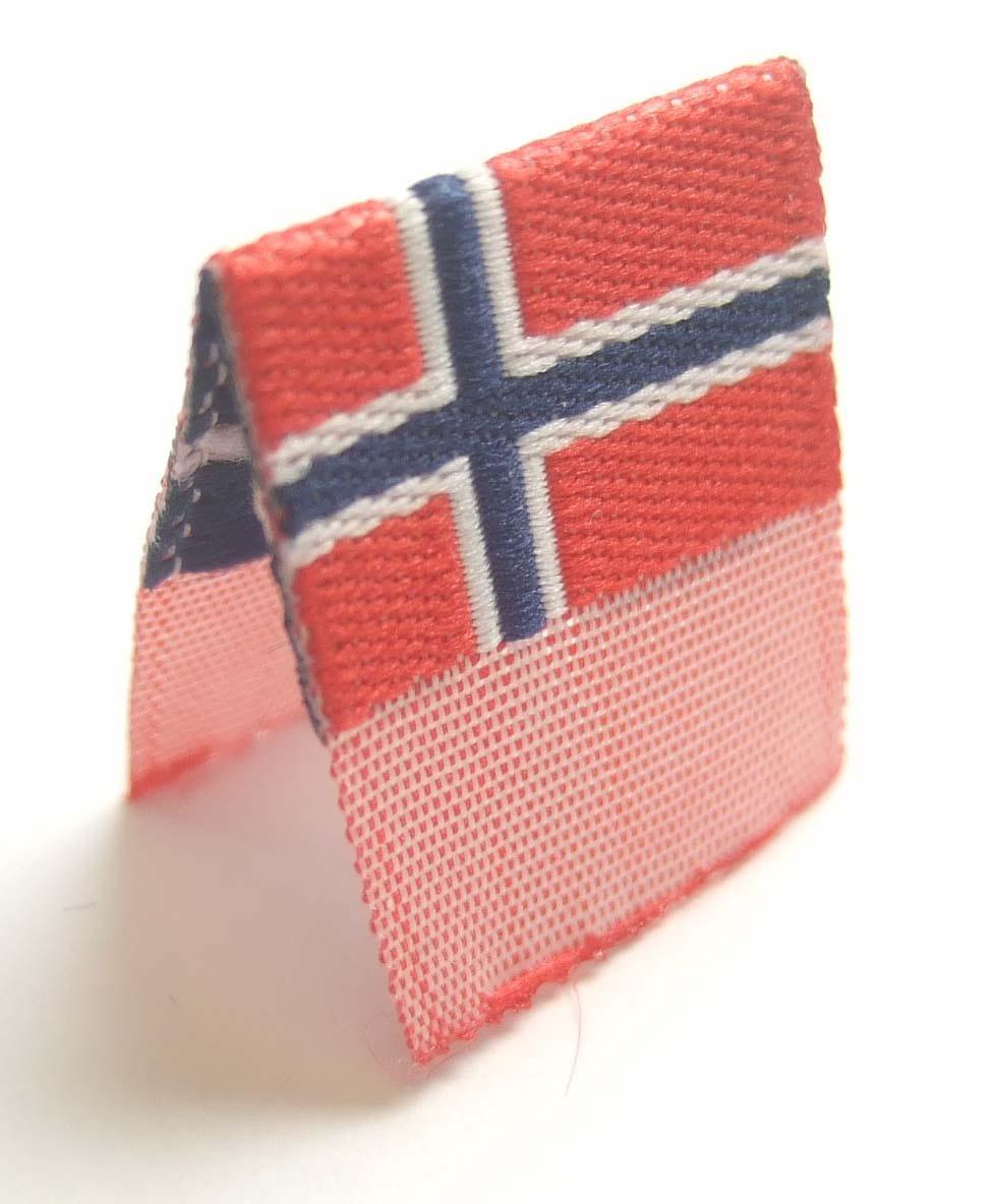 """Vävd mittvikt mini flagga """"Norge"""""""