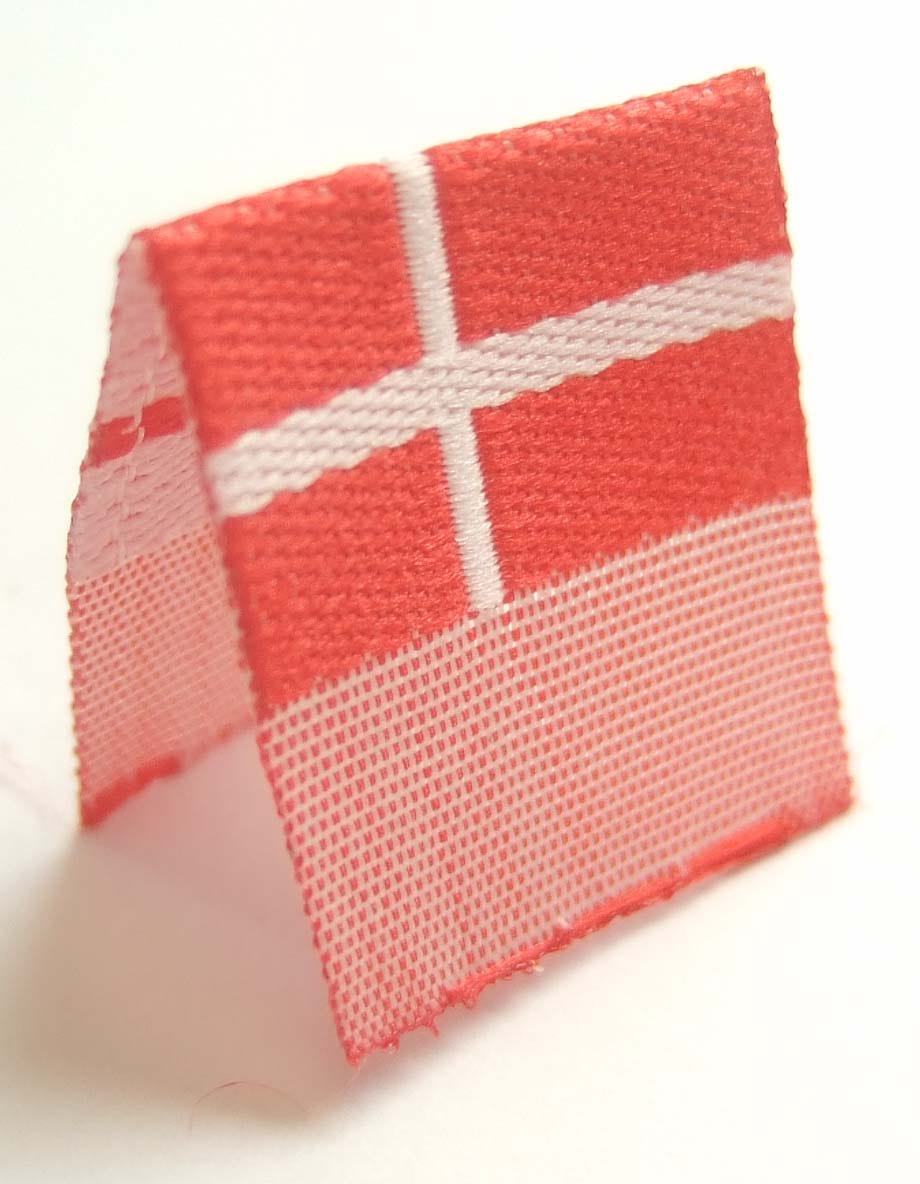 "Vävd mittvikt mini flagga ""Danmark"""