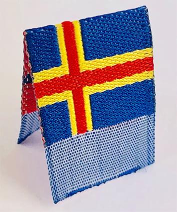 "Vävd mittvikt mini flagga ""Åland"""