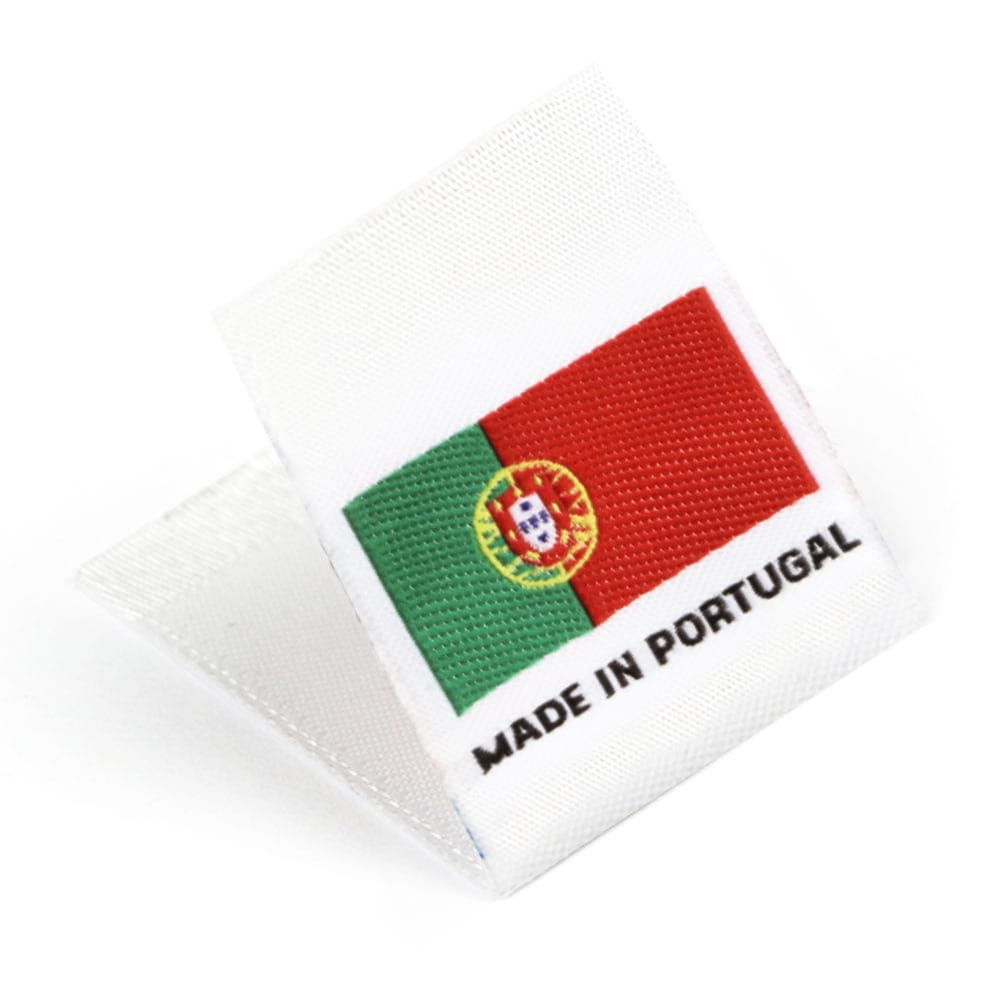 Gewebte Etiketten mit Flagge 'Made in Portugal'