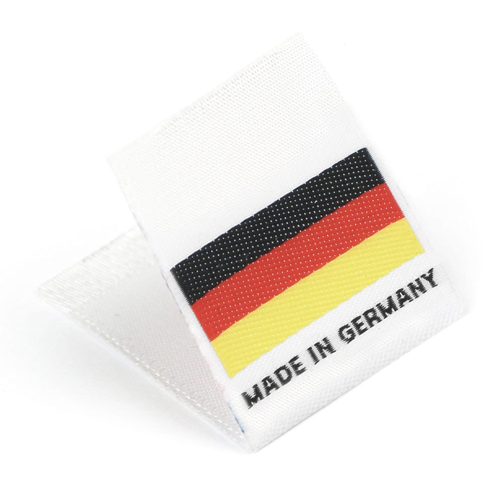 "Vävd mittvikt mini flagga ""Made in Germany"""