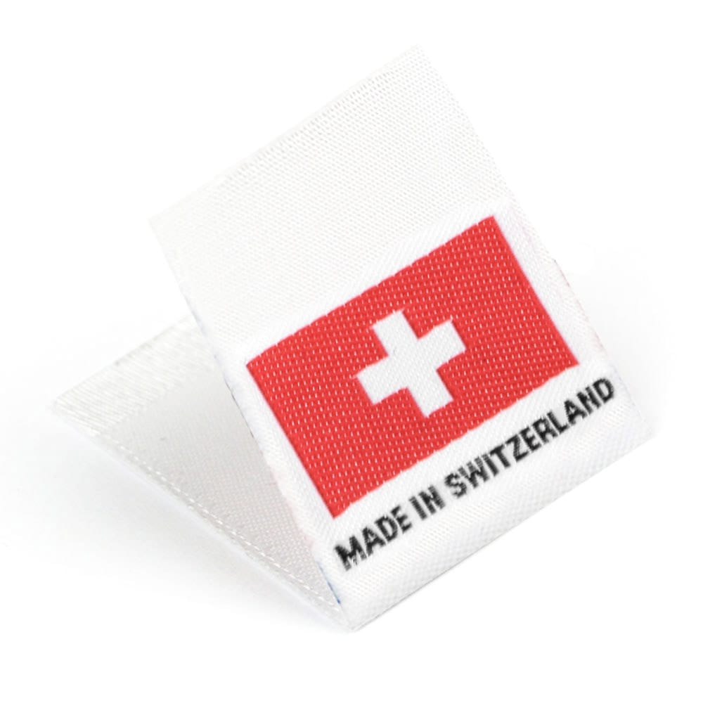 Woven 'Made in Switzerland' Flag Labels